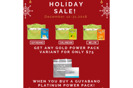GUYABANO PLATINUM  POWER PACK & GOLD POWER PACK HOLIDAY PROMO